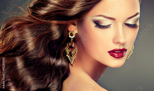 earrings girl hair makeup - photo #24