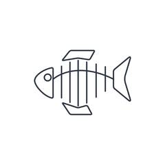 Vector icon of fishbone