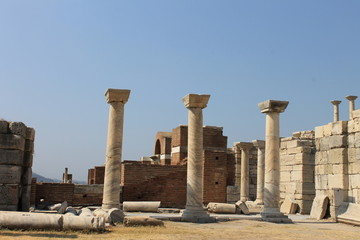 The castle and the tomb of Saint John in Selcuk Ephesus, Turkey