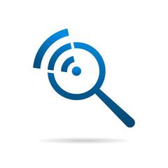 Search by wifi wireless logo