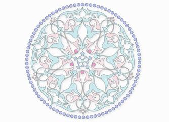 Seramik üzerine dairesel motif