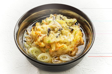 よくある天ぷらそば  Tempura udon Japanese foods of prawns