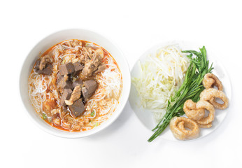 Ka-Nom-Jeen , famous food of Northern Thailand