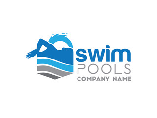 swiming pool logo