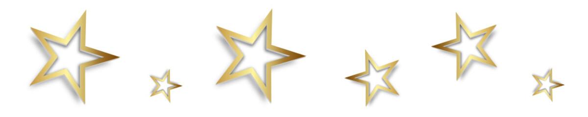 Stern Sterne Band Banner Gold Silber Weiß