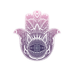 Ethnic ornamental hamsa, for cards, designs, banners
