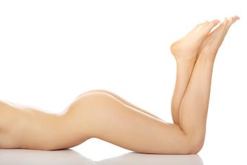 Slim naked  woman's body.