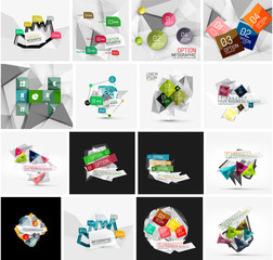 Set of abstract geometric infographic banner templates