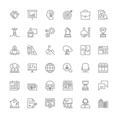 Line icons. Business