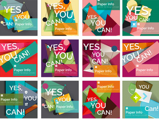 Set of square shaped banners or background layouts