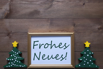 Frame With Christmas Tree, Frohes Neues Means Happy New Year