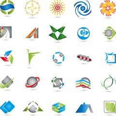Logos Sammlung, Dienstleistung, Buttons
