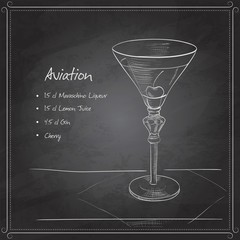 coctail aviation on black board