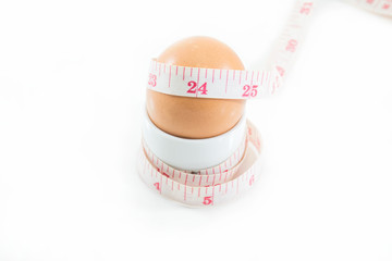 Egg and measure, use for diet concenpt