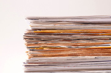 Stack of Documents/Stacks of documents isolated on white background.