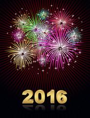 happy new year fireworks background 2015