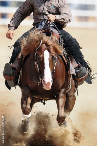 A front view of a rider and horse running ahead in the dust stock a front view of a rider and horse running ahead in the dust sciox Choice Image