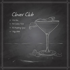 coctail clover club on black board