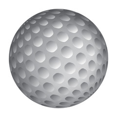 Golfball realistic vector. Image of single golf equipment, ball illustration isolated on white background.