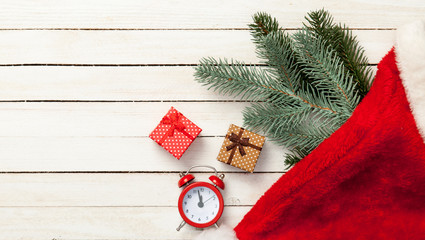 christmas gifts and alalrm-clock