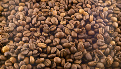 Coffee background. roasted coffee beans