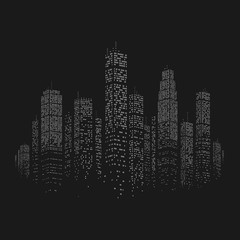City Skyscraper Vector Background