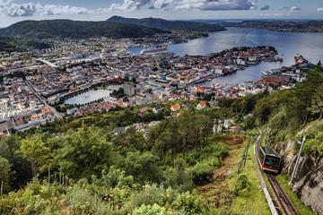 View from Floyen in Bergen Norway