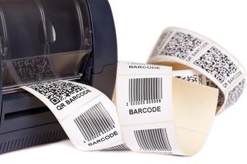 Wall Mural - Barcode Label  Printer.