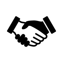 Business agreement handshake flat icon for apps and websites