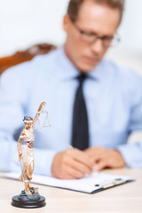 Professional lawyer holding folder