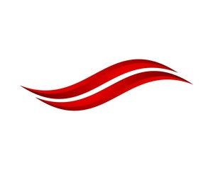 abstract red swoosh
