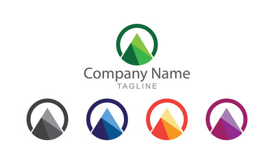 Mountain With Ring Logo Vector Business Concept
