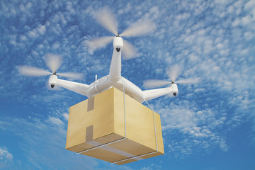 illustration quadrocopters deliver