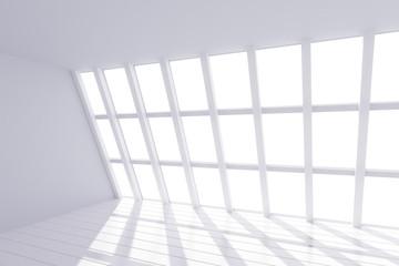 Fototapete - Sunny white loft interior