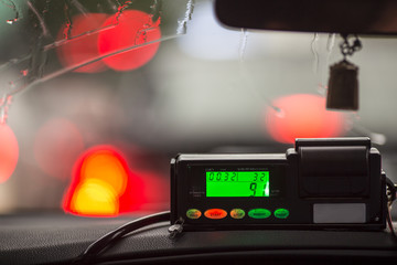 The view from the cab to the display meter in Thailand.