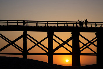 Pudding Creek Trestle Bridge at Fort Bragg, California