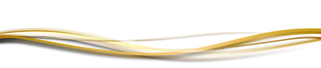 welle wellen band banner Gold weiß weihnachten