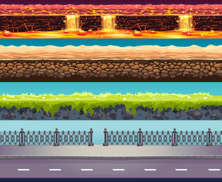 4 Tileable vector game background