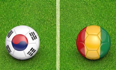 Team balls for South Korea vs Guinea soccer tournament match