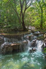 Huay Mae Kamin waterfall in Kanjanaburi , Thailand