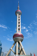 Oriental Pearl Tower in Shanghai China