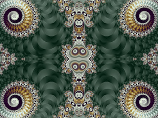 Beautiful Background with Spiral Pattern. Green and gray palette