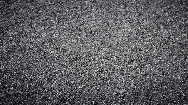 Close up of small gravel stones texture background
