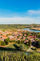 La vallée du Rhône vu des hauteurs de Condrieu