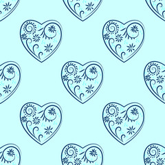 patterned heart, seamless