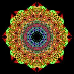 Mandala con colori vividi