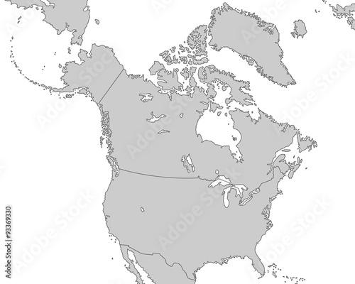 Karte Nordamerikas.Nordamerika Karte In Grau Stockfotos Und Lizenzfreie Vektoren Auf