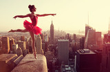 Ballet Dancer in front of New York Skyline