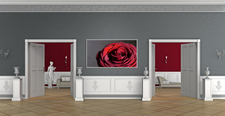 flur interior eines luxuriösen altbaus mit Bild