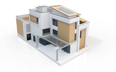 3d render of modern house